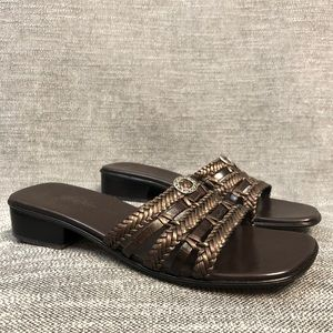 BRIGHTON shoes sandals heels brown 9.5M Womens